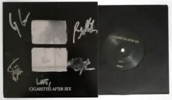 Cigarettes After Sex Crush 7 Vinyl Single 2018 Us. Cover Signed By The Band