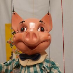 Pelham Puppets Pig 1963 Tagged Animal Range Original Box