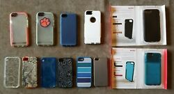 Lot 11 Apple Iphone 4/5/6 Cell Phone Covers Cases Tech21 Otterbox Ifrogz Speck