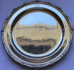 Heavy S. Kirk And Son Sterling Silver Tray Platter 14andrdquo 1165 Grams Beautiful 3604
