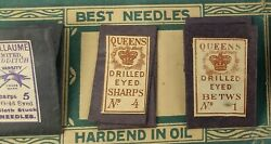 Vtg Always Use Piccadilly Needles Case Mills Needle Co New York Redditch Queens
