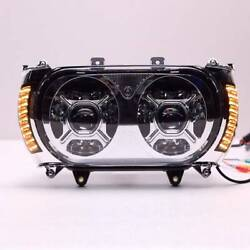 Front Led Dual Headlight Turn Signal Light Fit For Harley Road Glide 15-19 18 17
