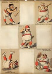 5 Old Baseball Cards Trade Cards Sheet Out Of Old Scrapbook 1