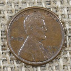 1909-s 1c Au+ Vdb Lincoln Wheat Penny Cent, Key Date