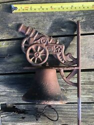 Vintage Antique Cast Iron Cannon Dinner Bell
