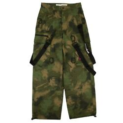 Nwt Off White C/o Virgil Abloh Green Camouflage Cargo Track Pants Size 32 1820