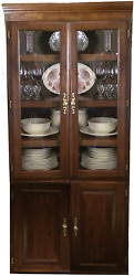 Forest Designs Traditional Bookcase Glass Doors 36w X 84h X 18d 84h Whitewash O