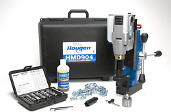 Hougen Hmd904 115 Volt Magnetic Drill With Coolant Bottle Plus 1/2 Drill Chuck,