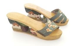 1940s Wwii Hand Carved Wooden Shoes, Philippines Tiki Shoes, Popeye Wood Work