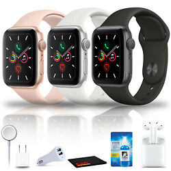 Apple Watch Series 5 Gps 44mm Bundle With Airpods 2 And More