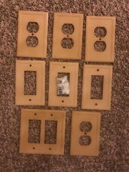 Switch Plates/ Outlet Covers . 8 With Hardware. Beige.