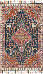 Loloi Rugs Zharah Collection - Navy / Multi Area Rug 9and0393 X 13and039
