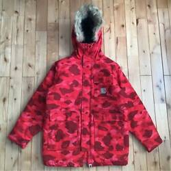 Used A Bathing Ape X N-3b Jacket Red Camo M Size Outerwear