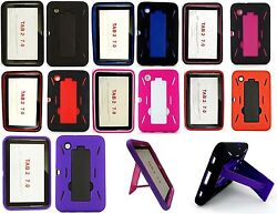 Lot Of 150 For Samsung Galaxy Tab 2 7.0 Gt-p3113 Hybrid Stand Hard Cover Case