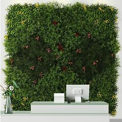 Artificial Leaf Grass Plant Mat Hedge Fence Panel Wall Home Greenery Background