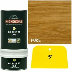 Rubio Monocoat Wood Stain Oil Plus 2c Pure 350 Ml Clear With Free Applicator