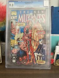 Cgc 9.8 New Mutants 98 First Appearance Of Deadpool And Domino Hot Htf