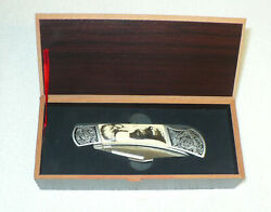 Falkner Pocket Knife In Original Box Limited Edition Eagle And Mountain
