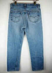 VTG 80s Men Levi#x27;s 501 0115 Faded Slim Fit Rigid Button Jeans W33 L32 No Patch