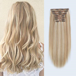 Lovrio 9a Grade Clip In Human Hair Piano Color Dark Dirty Blonde Mixed With Ash