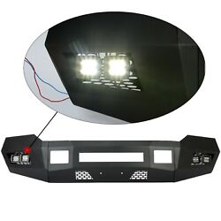 Black Front Bumper W/ Leds For 2011-2016 2/4wd Ford F250 F350 Heavy Duty New