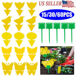 Sticky Fly Trap Paper Traps Fruit Flies Insect Glue Catcher Best Odorless Yellow