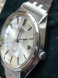 Seiko Grand {seiko} Vintage Date Stainless Steel Mens Watch Authentic Working