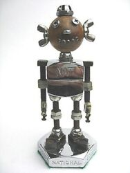 Vintage 1950andrsquos Iron Screw Bolt Nat National Screw Toy Mexico Advertising Doll