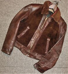 Vintage 1930 1940 Grizzly Jacket Bear Jean Riders Jacket With Tint Mens M Size