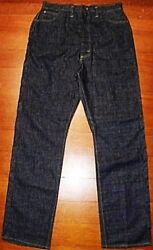 Vintage 1940and039s 1950and039s Lee Riders Pants Center Original Jeans Size 34 Or 35 Rare