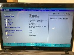 Toshiba Satellite A665 S6086 Laptop For parts Boots to BIOS NO HDD Charger JR $70.00
