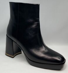 Ruby 90mm Bootie Sierra Antik Size 9.5 In Perfect Black Leather