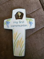 My First Communion Cross. Hang up on the wall. Small and colorful.
