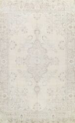 Muted Semi-antique Wool Distressed Traditional Area Rug Low Pile Handmade 10x13