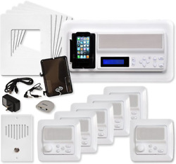 Ist Retro Music And Intercom System Package 5 Rooms Vertical Frames White