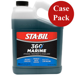 Sta-bil 360 Marine Fuel Treatment And Stabilizer 5-in-1 Maximizer 1 Gallon 4 Pack