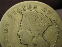 1861 3 Gold Indian Princess Three Dollar Coin- Extremely Rare 5959 Mintage