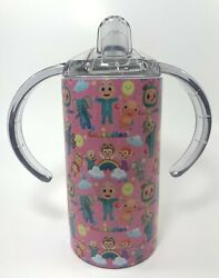 Coco Melon Sippy Cup 16 Art Options Sippy W/handles + Slider Lid - Ss Tumbler