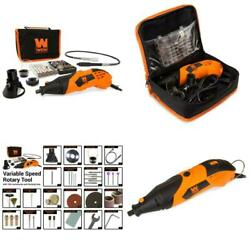 1.4 Amp High-powered Variable Speed Rotary Tool With Cutting Guide Led Collar