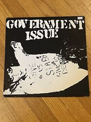 """Government Issue, Give Us Stab, 12"""" Red Vinyl, Mystic Records, Brian Baker"""