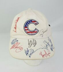 Signed Chicago Cubs Baseball Cap Hat Womens Adjustable American Needle