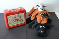 Vintage Tonka Pound Puppies Lot Stuffed Dogs Thermos Lunchbox 1985 Collectible