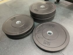 Olympic Rubber Bumper Weight Plates 160 Lb Set - 2 Pairs Of 45s 35s And 10s