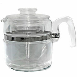 Vintage Pyrex Flameware Glass Percolator Coffee Pot, 7756b 6 Cup Complete