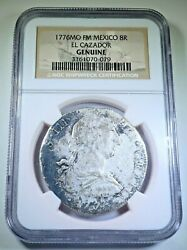 Ngc 1776 El Cazador Shipwreck Silver 8 Reales Old 1700and039s Us Colonial Dollar Coin