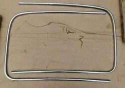 1941 1948 Ford Outside Windshield Stainless Trim Moldings Original Pair