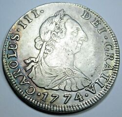 1774 Jr 4r Bolivia Silver 4 Reales Antique 1700's Spanish Colonial Pirate Coin