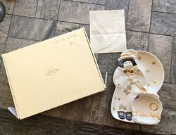 Nib Lenox Occasions Autumn Witch Divided Serving Dish Platter Plate