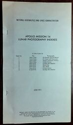 Apollo 14 Lunar Surface Photography 1971 Indexes And Maps / Locations Rr Auction