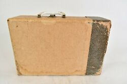 Vintage 1950s Silvertone Beige Suitcase Record Player 8233 117v/45w/60 Cycles